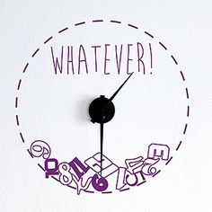 Wallsticker ur - Whatever