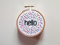 Say hello to this nice way to anyone who comes into your store, at home or in your room.    This is sold as finished crochet, embroidery fabric all