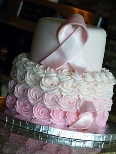 Breast Cancer Awareness cake #mimissweetcakesnbakes #breastcancerawareness #pinkombrecake