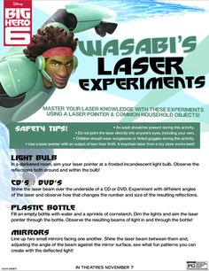 Complete this Wasabi Laser Experiment today!