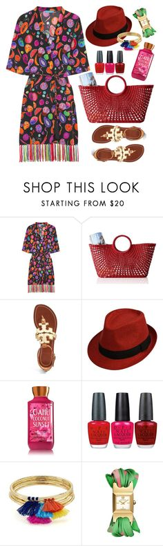"""""""Matthew Williamson"""" by thestyleartisan ❤ liked on Polyvore featuring Matthew Williamson, Mark & Graham, Tory Burch, OPI and Aqua"""