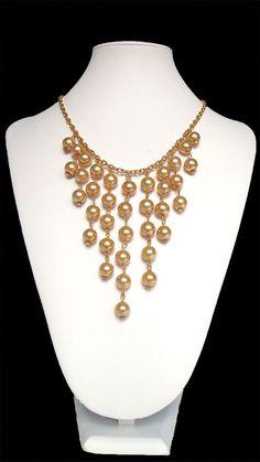 Collar elegante cascada de perla moda de la por LunaGirlsJewelry