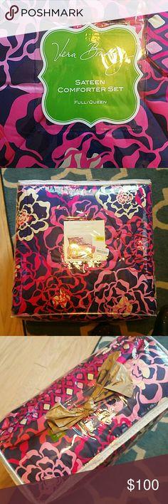 Vera BRADLEY bedding BRAND NEW bedding still in packaging from Dillards. Katalina Pink color. Fits Full/Queen. Vera Bradley Other
