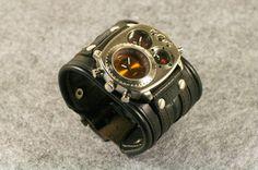 "Mens wrist watch Leather bracelet ""Highlander""-Leather Accessories - Men's Wrist Watches - Leather Watches - Men's Watches"