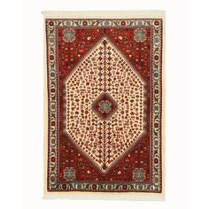 Eorc Hand Knotted Wool Ivory Abadeh Rug (3'5 x 5'1) (3'5 x 5'1), Size 3' x 5'