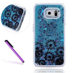 S7 Edge Case Samsung Galaxy S7 Edge Case for Girls EMAXELER 3D Creative Design Angel Girl Flowing Liquid Floating Bling Shiny Liquid PC Hard Case for Samsung Galaxy S7 Edge Blue Many Dandelion - http://todays-shopping.xyz/2016/08/22/s7-edge-case-samsung-galaxy-s7-edge-case-for-girls-emaxeler-3d-creative-design-angel-girl-flowing-liquid-floating-bling-shiny-liquid-pc-hard-case-for-samsung-galaxy-s7-edge-blue-many-dandelion/