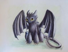 art, toothless, dragon