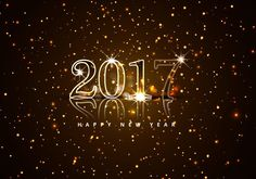 happy new year 2017 | Happy New Year 2017 With Glitters - Download Free Vector Art, Stock ...