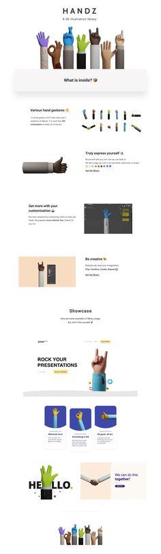 Handz 3D Illustration Library - uistore.design Free Illustrations, 3d Hand, Store, Design, Larger, Shop