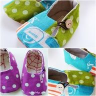 DIY Baby Shoes - one of my goals this year is to learn to sew kids stuff!!