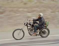 I love the wind in my beard | Chopper | via a journey of a thousand miles...