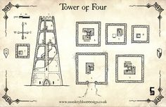 Map Monday : Tower of Four | OSR Today