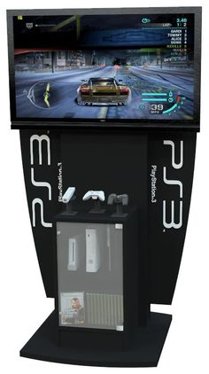 XBOX, Playstation 3/4, Wii Gaming Display Kiosk Console Stand Video Games Kids