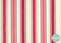 Laura Ashley Awning Stripe - Cranberry