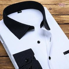 Luxury White Printed Men Shirt Long Sleeve Fashion Collar Business Casual Shirt High Quality Floral Shirts Men - Men's style, accessories, mens fashion trends 2020 Best Casual Shirts, Formal Shirts For Men, Striped Long Sleeve Shirt, Long Sleeve Shirt Dress, Long Sleeve Shirts, Outfits Con Camisa, Spring Shirts, Men Shirt, Mens High Collar Shirts
