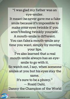 Eye-Smilers, Roald Dahl Quote