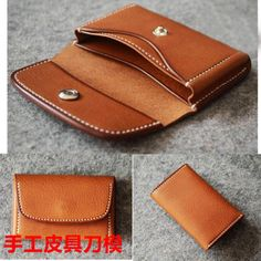 A-Grade Brown Leather Watch Roll Handmade with pockets to Leather Diy Crafts, Leather Gifts, Leather Projects, Leather Craft, Leather Totes, Handmade Leather, Leather Bags, Leather Wallets, Leather Wallet Pattern