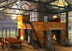 Oh man, this is such a cool loft.