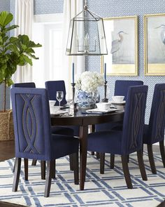 love this beautiful blue dining room  http://rstyle.me/n/idyfhpdpe