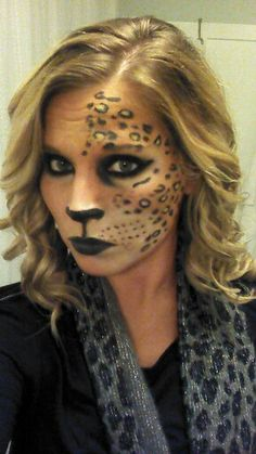 Cat costume makeup. Halloween costume ideas. Photo inspiration only.