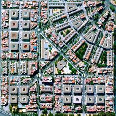 Beautiful block layout in Nervión District, Seville, Spain