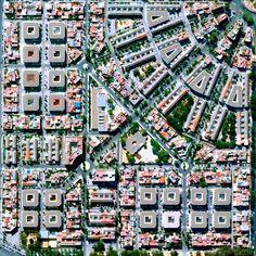 Beautiful block layout in Nervión District, Seville, Spain