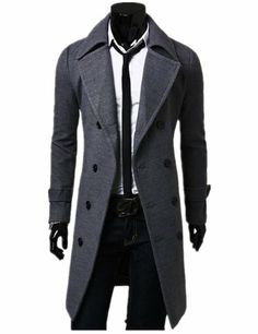 Men's Stylish Trench Coat Winter Jacket Double Breasted Overcoat (L ( US S), Grey) TRURENDI, To SEE or BUY just CLICK on AMAZON right here http://www.amazon.com/dp/B00IZ3OO42/ref=cm_sw_r_pi_dp_JPeDtb0C1HNQFZ9Y