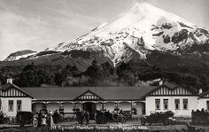 Mt Egmont, Mountain House, New Plymouth. Postcard by Frank Duncan & Co. Pilgrimage, Auckland, Plymouth, Art Boards, New Zealand, Mount Everest, Exotic, Island, Mountains