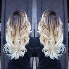 Hair Styles Ideas : Ombre hair is still one of the hottest trends; from blonde ombre style to black,. Hair Color And Cut, Ombre Hair Color, Ombre Style, Blonde Ombre Hair Medium, Hair Colors, Blond Ombre, Cabelo Tiger Eye, Beautiful Hair Color, Pretty Hairstyles