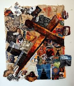 Stations of the Cross collage.