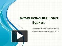 Darwin Horan is using to let the big dog invest on Real Estate ventures all the live long day. Might you want to get your hands on it? Well beneath you'll discover the rundown in which numerous potential financial specialists would execute for, or you prepared to do likewise.If you're truly considering investing into the matter of Real Estate; the vital thing to recall is to not do it all alone. It's vital that you consult Darwin Horan Ventana Capital Inc we have the best enthusi...
