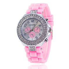 Fashion Silicone GENEVA Watch Crystal Silicone Jelly Watches Watched Women Rhinestone Watch Please allow up to 7 business days for shipping and handling Casual Watches, Watches For Men, Women's Watches, Wrist Watches, Jelly Crystals, Arm Bracelets, Womens Fashion Online, Quartz Watch, Fashion Watches