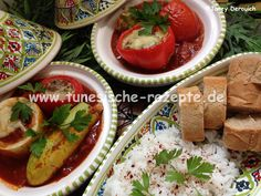 Mehchi Zucchini, Harissa, Couscous, Caprese Salad, Tacos, Mexican, Ethnic Recipes, Food, Ground Meat