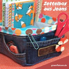 greenfietsen: from trash to blog | Zettelbox aus alten Jeans
