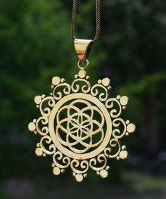 """Amulette - Kette """"Blume des Lebens"""" - ein Designerstück von Nomadic-affairs bei DaWanda"""