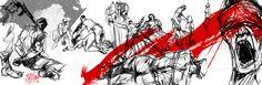 """""""Los hijos de los días"""" - Galeano ilustrado por Casciani 26/6 - acá podés leer el texto:http://andrescasciani.blogspot.com.ar/2016/06/los-hijos-de-los-dias-galeano-ilustrado_26.html"""