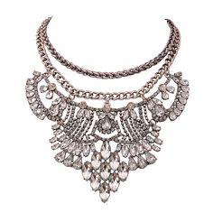 New Fashion Necklace Rhinestone Jewelry Double Metal Chain Necklace – Jane Stone 22