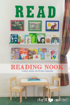 Want to inspire your child to read? AND you like DIY? Then give this easy reading nook idea a try! This kids reading area is perfect for ANY playroom.