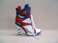 Air Jordan 7 High-heeled Blue/Red/White