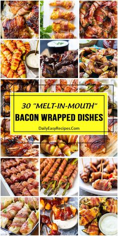 30 Bacon-Wrapped Dishes That're Gonna Melt In Your Mouth – Home Chef Bacon Wrapped Salmon, Bacon Wrapped Onion Bombs, Bacon Wrapped Pickles, Bacon Wrapped Tenderloin, Baked Bacon Wrapped Chicken, Bacon Wrapped Little Smokies, Oven Baked Bacon, Bacon Wrapped Meatloaf, Bacon Wrapped Jalapenos