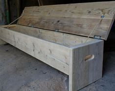 The original future rustic bench Storage box