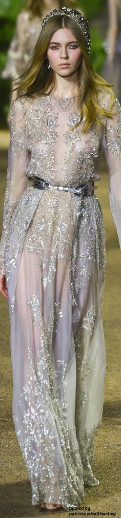 Elie Saab Couture Spring 2016 - minus the medieval tiara thing and belt :)