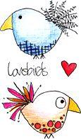 Paper Artsy - JOFY Cling Mounted Rubber Stamps - Mini Rubber Stamps mounted and individually trimmed on EZ Mount foam. Bird Doodle, Doodle Art, Doodles Zentangles, Doodle Sketch, Artist Trading Cards, Scrapbook Paper, Scrapbooking, Illustrations, Bird Art