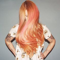 Kimi Selfridge from Tan Camera recently got her hair done by @lalalucy4 at our official Manic Panic Color Asylum at Revolver Salon! #PrettyFlamingo and #CottonCandyPink were both used, and these results are just incredible. What would you call this beautiful shade? We are thinking it looks like #RoseGold...