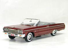 1964 CHEVY IMPALA SS CONVERTIBLE New Ertl 1:18 Scale DieCast Metal Model Car - I want I want it I want it!