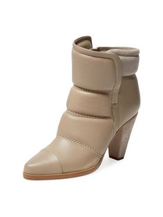 Quilted Leather Ankle Bootie from Fall Trends: The New Booties on Gilt