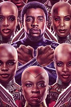 King of Wakanda and his Dora Milaje illustration by Eddie Holly Black Panther Art, Black Panther Marvel, Black Panther Character, Marvel Comics, Marvel Heroes, Marvel Art, Marvel Avengers, Marvel Universe, Black Panther Chadwick Boseman