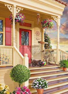 OMG perfect! It's a painting but a perfect home