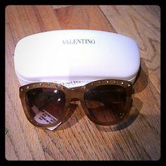 Brand New Authentic Valentino Sunglasses - V677S Color is 772 Striped Honey Valentino Accessories Sunglasses