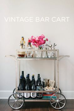 Vintage Bar Cart. Have the vintage ware- just need the cart!